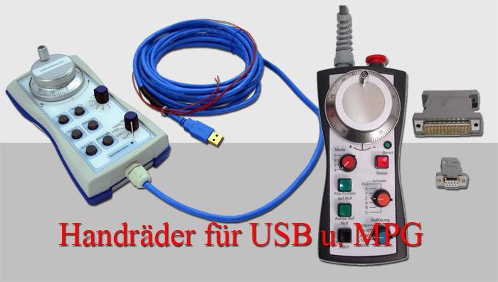 USB u. MPG CNC Handrad elektronisches Handräder Bild
